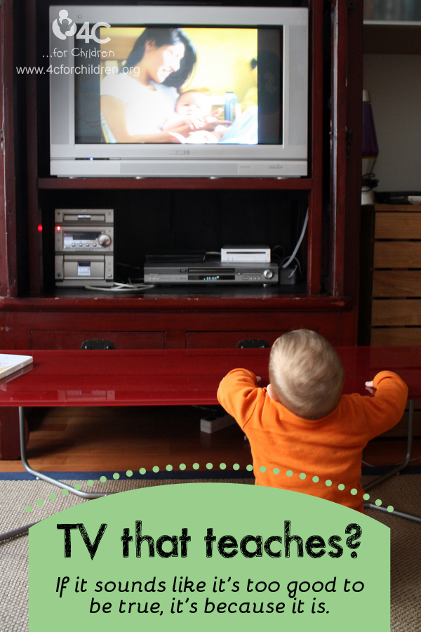 For children of all ages, but especially the very young, real learning happens when the TV is off.