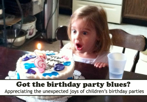 Too many birthday party invites? How to find the unexpected joy in kids' birthday parties.