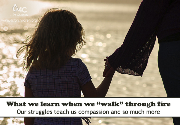 When we struggle, we learn to sympathize with the struggles of others.