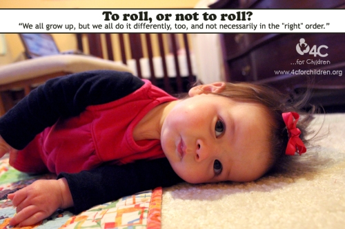 To roll or not to roll, that is the question for this baby.