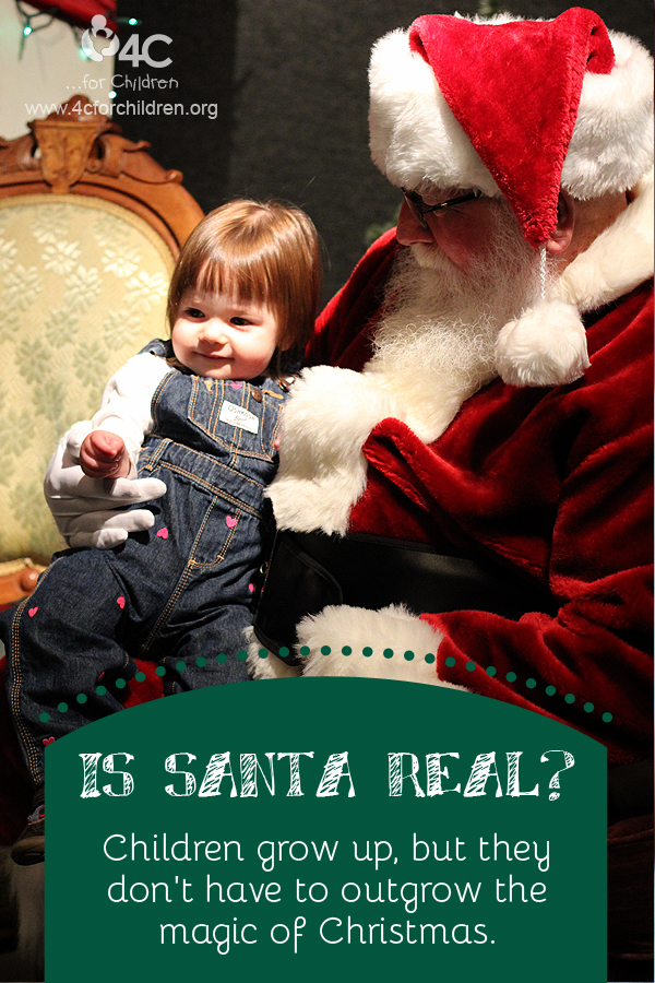 Children grow up, but they don't have to outgrow the magic of Christmas.